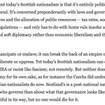 This, from the Washington Post, is one of the best passages on Scottish nationalism Ive read in a while. https://t.co/9oXPzvo87a