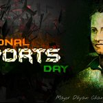 Remembering Major #Dhyanchand, the Wizard of Indian Hockey! Won 3 Olympic Golds! A true Legend! #NationalSportsDay https://t.co/0vWyv2fjHt