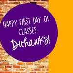 Residence Life wishes you all an amazing first day of classes!! #duhawks https://t.co/DiY39NF24I