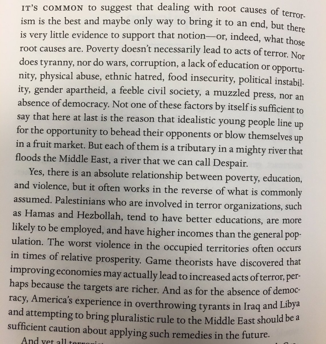 Epilogue of .@lawrence_wright's new book, The Terror Years, is a sobering meditation on what drives terrorists. https://t.co/jA2dSJfncJ
