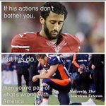 If Kaepernicks actions dont bother you but Tebows do then you are part of what wrong with America! #Patriot https://t.co/2vONxiuAB8