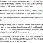 This will be a big theme as contours of Brexit emerge: the limits of regulatory equivalence https://t.co/bzIkhOah0E https://t.co/ppy8SYqVV8