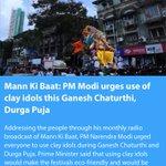 Mann Ki Baat: PM Modi urges use of clay idols this Ganesh Chaturthi, Durga Puja https://t.co/Sb3I3vsLFe via NMApp https://t.co/PyY40kj7fO