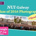 The First Year Class Photo 2016 is on TOMORROW at the Quad at 5.30pm #QuadGoals #mynuigalway https://t.co/WHY9bTYaRX https://t.co/gSJYZJiaW2