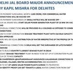 Major Announcements Delhi Jal Board - Press Conference by @KapilMishraAAP cc @ArvindKejriwal #DelhiJalAdhikar https://t.co/aqvv6ShpeX