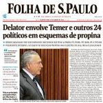 Memórias do impeachment: Sérgio Machado diz que Michel Temer teria recebido propina: 💸🗞 https://t.co/sYUuhe2hsn