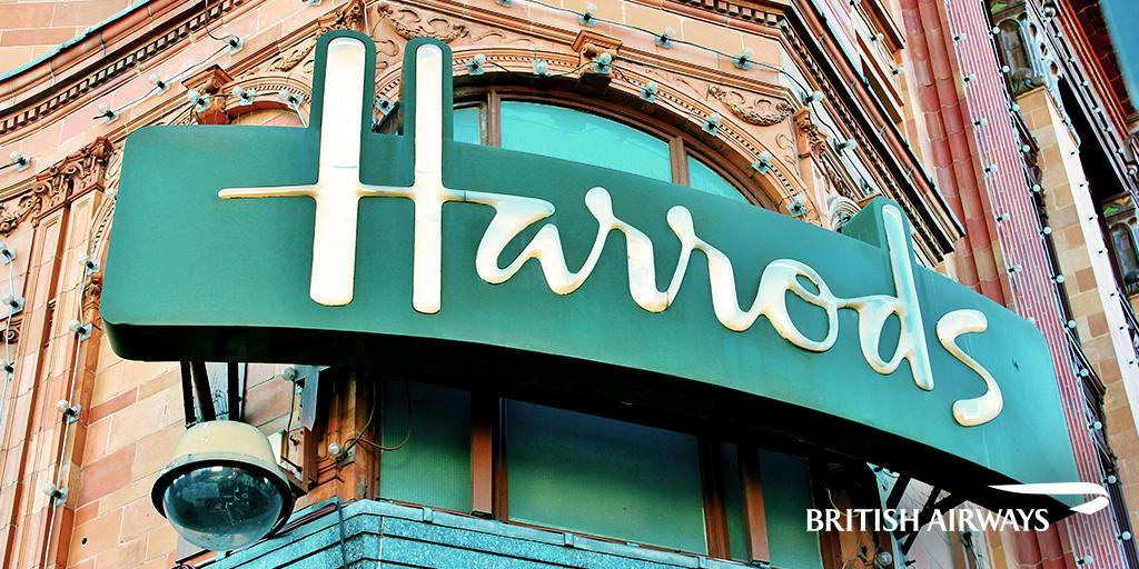 Love shopping? Come to London & hit Harrods, Harvey Nichols & Selfridges.