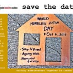 Save the date - World Homeless Action Day Oct 6 #WHAD #SoupNBread https://t.co/6A6RdHhyTK