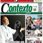 Niño y taxista ahogados #LaPortada @contextodgo https://t.co/gwftPQvc8r