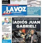 ¡ADIÓS JUAN GABRIEL! #LaPortada @LaVozdeDurango https://t.co/AkfdwXxmqm