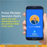 With more than 25 lakh downloads @narendramodi mobile app is the most popular app of any political leader in world. https://t.co/7fdjRnOY9C