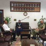 11. Komando Tugay Komutanlığına atanan Kurmay Albay Gültekin Yaralıyı makamında ziyaret ettik. https://t.co/RL2DxzfzdG