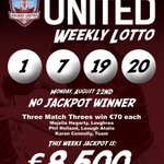 This weeks @GalwayUnitedFC Lotto draw is in E Brun Bar, Dominick Street, Galway (7.00pm) - all supporters welcome https://t.co/WXcZNJe67B