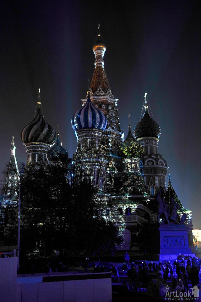 Sparkling Beauty #StBasil' Cathedral on #RedSquare at #CircleOfLight 2011 #Russia #Lig ...