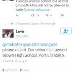 Eastern Cape journalist please inveatigate. The school is called: Lawson Brown High School, Mount Croix, PE Rt https://t.co/RpdQQqOhwY