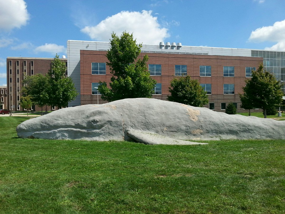 Nothing like a beached whale sculpture on campus to remind you that life isn't so bad. @WesternMichU https://t.co/HTW7pLV8bm