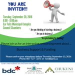 Join us in Ear Falls Sept. 20th to find out about funding available to help you start or grow your business! https://t.co/irTJl0gVzn