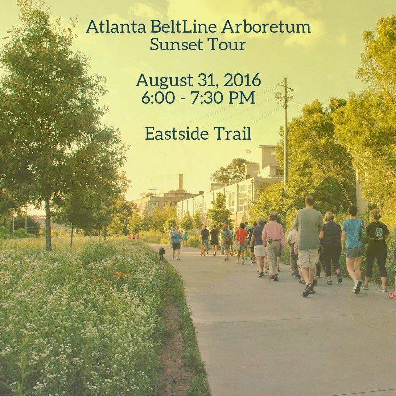 Free @AtlantaBeltLine Arboretum Sunset Tour Wed. 8/31 at 6PM. Tour begins behind @ParishATL. https://t.co/UfYsIr1FhE https://t.co/pKc0XxpYSY