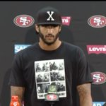 Damn, just seeing this. Kaepernick wore a Fidel Castro tshirt after failing to stand for national anthem. Castro! https://t.co/PKDWE46GYm