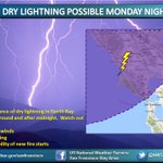 Dry lightning possible tonight in North Bay. When thunder roars, go indoors! #cawx https://t.co/7Z1slBfDYN