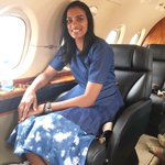Success is sweet....@Pvsindhu1 in a charter plane to meet the @PMOIndia @narendramodi ..... https://t.co/DQzAE5W907
