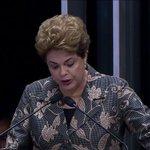 JULGAMENTO DO IMPEACHMENT - Emocionada, Dilma critica Temer e cita morte política. #CBN https://t.co/w1FTUeN7v1 https://t.co/csV8V4zYac