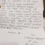 Humbled & glad to see the effort of little girl, Amrutha of Guntur, in writing this letter to me. Thank you Amrutha. https://t.co/1Tf45aB87V