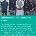 PM Modi invites ideas to improve sports https://t.co/Ws7ueVvs5d via NMApp https://t.co/uY83TmSXmb