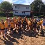 Thanks to @Brockport College students for spreading MOUNTAINS of mulch on our playgrounds! #roc #hcfriendship https://t.co/7kRsl11TOm