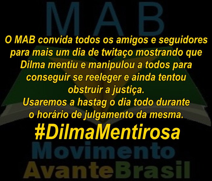 #DilmaMentirosa