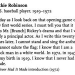 Jackie Robinson had strong feelings about the National Anthem as well. https://t.co/6zegHn96Uc