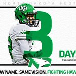 Three days and counting for Tyus Carter and the UND football team. #LeaveNoDoubt https://t.co/3QPQqixeZX