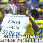 3000€ de multa a Boateng por sacar esta camiseta, apoyando las víctimas del terremoto en Italia. LAMENTABLE. https://t.co/uRrS1dKF0U