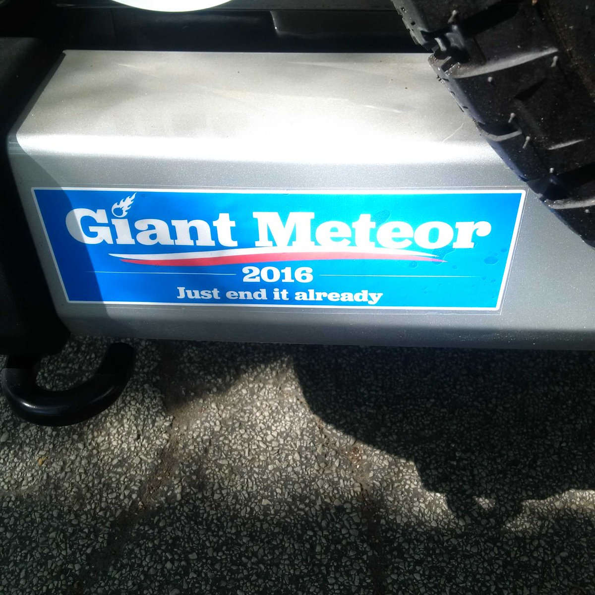 Best political bumper sticker I've seen this election cycle... https://t.co/Zng0mufnW3