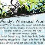 Check Wendys @artwendymeades show at #NorthDelta Firehall Arts Ctr. #DeltaBC On now. Reception Sept. 6th 6p-8p https://t.co/JMBRhKpkj7