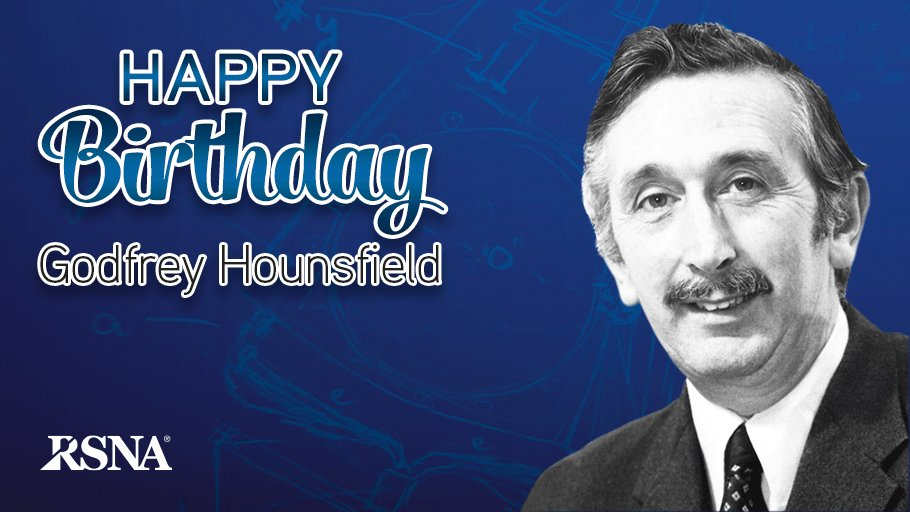 Happy belated birthday, Sir Godfrey Hounsfield, Nobel prize-winning CT inventor: https://t.co/kgpz8leA5X #radiology https://t.co/k1p97zDTgb