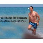 Me pasan esto. Pedro Sánchez no descarta unas terceras vacaciones. Su sentido de Estado es de coña. https://t.co/9892uhc0jp