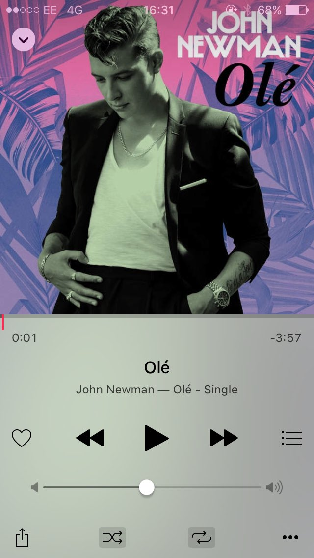 @JohnNewmanMusic my favourite chilled song of the summer ☀️ #OLÉ https://t.co/1brx0aJ62J