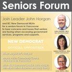 Join @selinarobinson @DarcyJudy @mableelmore & @jjhorgan at seniors forum tomorrow. #bcseniors #bcpoli https://t.co/DSjXvQYez1