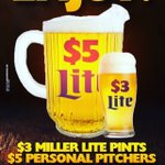 #MotivationMonday $3millers &$5personal pitchers all nite!! Check out our selection of wing sauces & rubs #Hoboken https://t.co/dC56lsvqhp