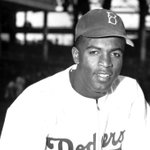 """Jackie Robinson: """"I cannot stand and sing the anthem. I cannot salute the flag"""" https://t.co/C2YeF30i9J https://t.co/vNeBcF7W24"""