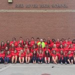 The 16-17 Leadership Council and Gabe are here to kick off the 50th year of Red River High School! #FiftyYearsStrong https://t.co/dmyCXXp6Dr