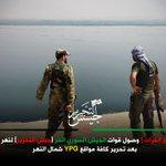 #جيش_التحرير #درع_الفرات | وصول قوات #الجيش_السوري_الحر لنهر الساجور بعد تحرير كامل مواقع ميليشيا YPG شمال النهر. https://t.co/zP5BStzgoB