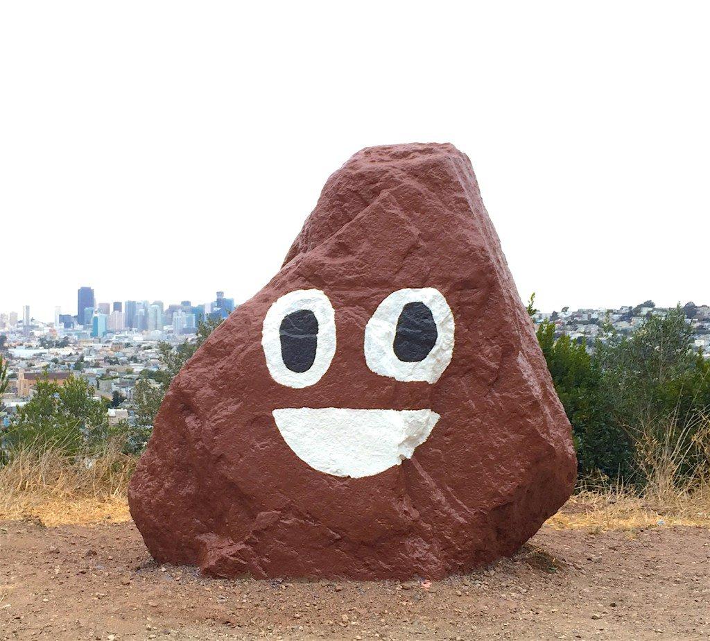 Bernal Rock Transformed Into Beloved PoopEmoji https://t.co/ikQ4ZJm2dl https://t.co/87AmhDavco