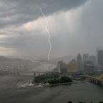 STEEL CITY ELECTRIFIED! Severe storms hit #Pittsburgh Sunday. Pic @DaveDiCello Send yours: https://t.co/Imm9iMSNwO https://t.co/y5o1dExcjp