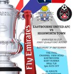 Next up is the #EmiratesFACup First Round Qualifying fixture against Highworth Town on Saturday at The Oval (3pm) https://t.co/nJiibCD4tW