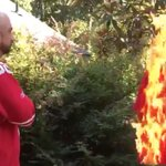 Niners fan burns Colin Kaepernick jersey while playing the national anthem. VIDEO: https://t.co/zOiGgYl4rw https://t.co/gdIY1xh9WC