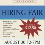 Get a job, earn a living wage! #Asheville's @USCellularCTR to hold hiring fair Tues https://t.co/9tgEmbcvh1 #AvlNews https://t.co/mgOqZjmc7k