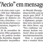 """Memórias do impeachment: Aecio, que questiona Dilma sobre atos de corrupção, """"aparece"""" em mensagem de dono da OAS: https://t.co/0itCFHEvoD"""