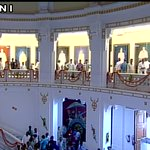 Lucknow: UP CM Akhilesh Yadav and Mulayam Singh Yadav unveil oil painting gallery of state leaders in UP Assembly https://t.co/c2EQKAAGme